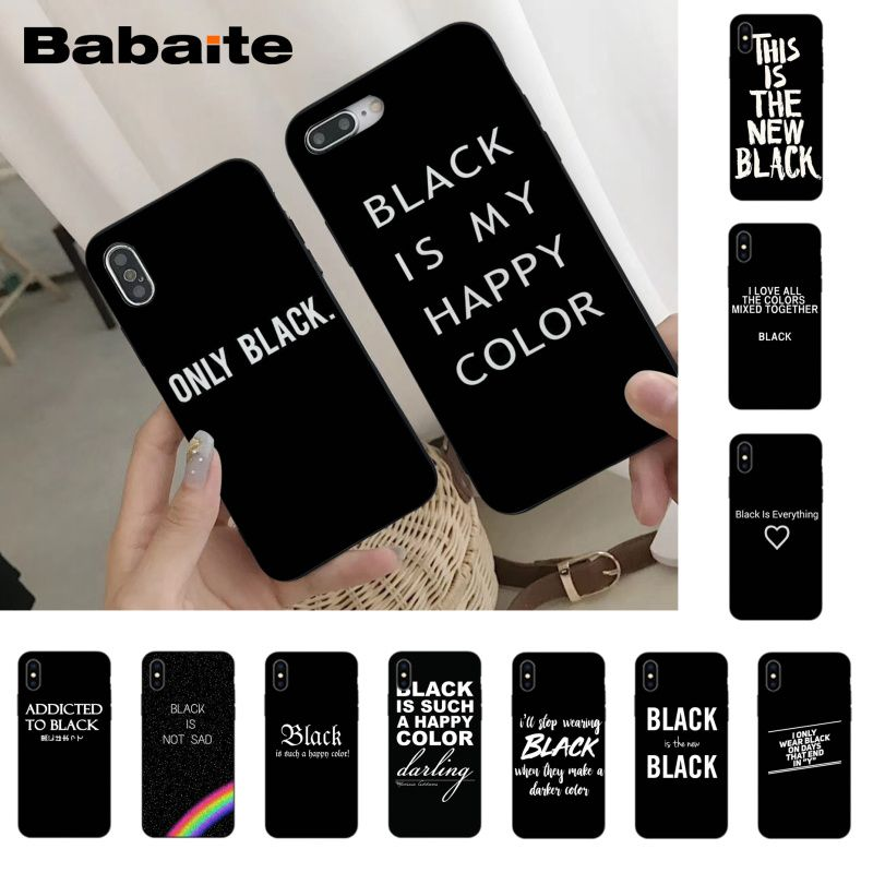 Babaite Black is My Happy Color TV Series Skam Hot Selling phone cover for iPhone 8 7 6 6S Plus X Xs Xr XsMax 5 5S SE 5c Coque