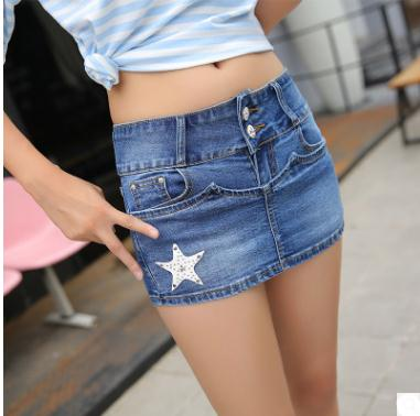 Bermudas Feminina Newest Womens Casual Slim Jeans Shorts Casual Skirt Shorts Large Size Skinny Sexy Summer Jeans Short J2245