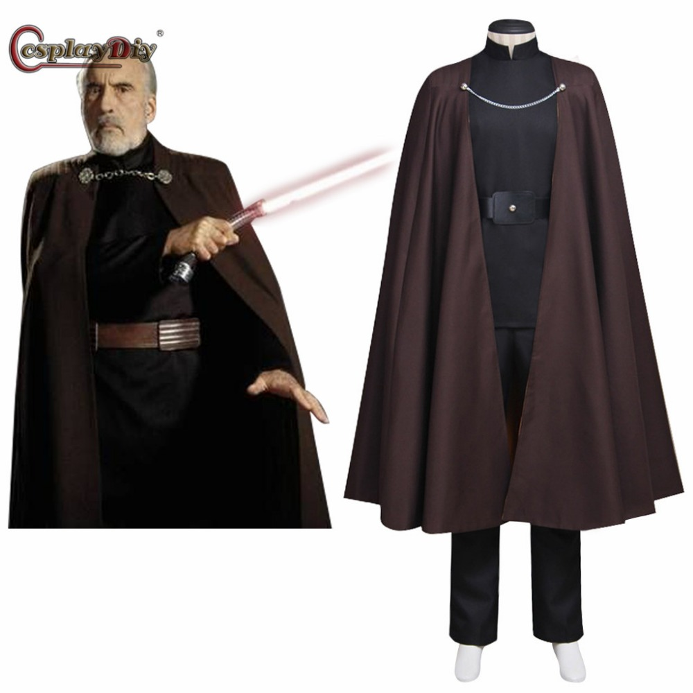 cosplaydiy star wars cosplay attack of the clones count dooku cosplay costume adult men halloween carnival clothes custom made - Clone Wars Halloween Costumes