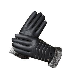 Cycling gloves bike gloves winter warm padded velvet windproof touch screen  leather acbf324b6732a