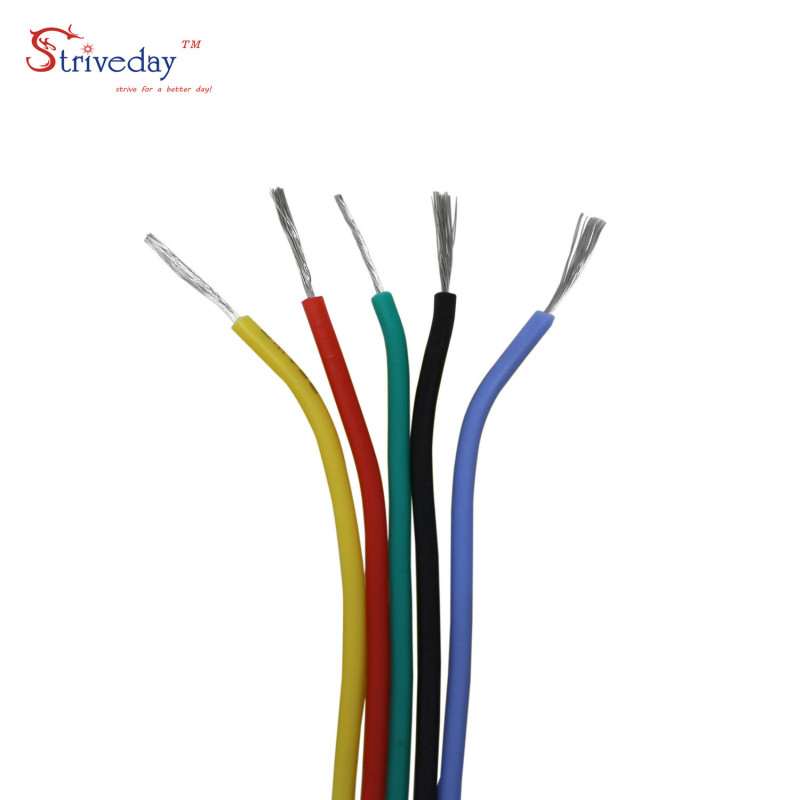 30/28/26/24/22/20/18awg Flexible Silicone Wire Cable 6 color Mix package Electrical Wire Copper Line DIY