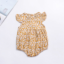 Rompers New born Baby Girl One-pieces Girl Suspender Jumpsuits Baby Girls Rompers Summer Infant Cotton Newborn Baby Girl Clothes cheap campure Solid Unisex Single Breasted Short O-Neck 82065 Fits true to size take your normal size newborn clothes boy toddler girl romper