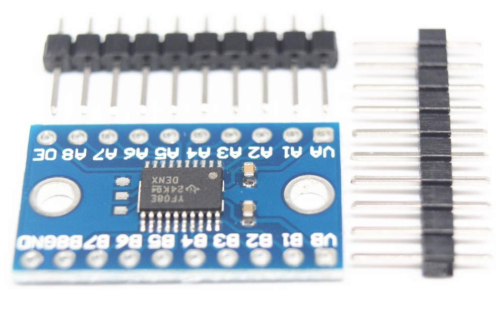 US $85 2 |TXS0108E 8 way level conversion module 8 bit bidirectional  voltage converter 100PCS Free shipping-in Integrated Circuits from  Electronic