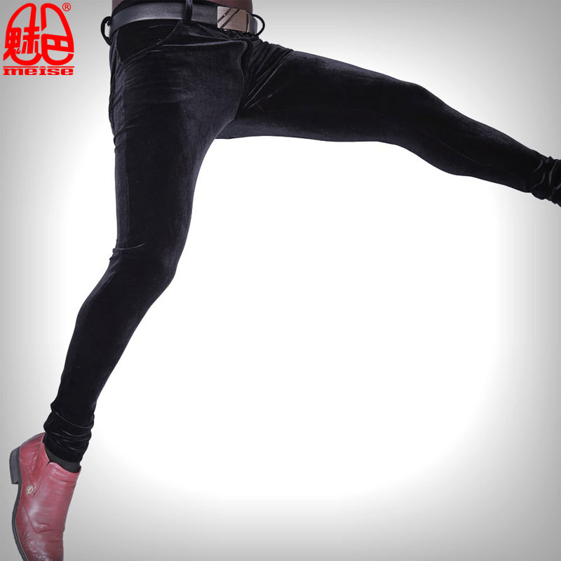 Sexy-Men-Plus-Size-Casual-Shiny-Pants-Elastic-Denim-Jeans-Lattice-Pencil-Pants-Soft-Slim-Clubwear (1)