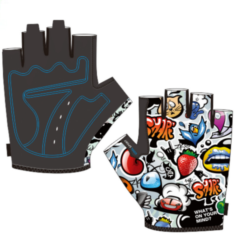 Summer Kids Cycling Gloves Half Finger Skate Child Mountain Bike Bicycle Gloves Sports Gloves for Boys and Girls Children