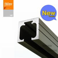 VIBORG 2 Meter Extra thick Roll Sliding Door Track, Slinding Door Hanger Roller Track Sliding Door Hanging Wheel Track