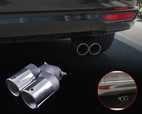 DWCX Universal Stainless Steel Exhaust Tail Rear Muffler Tip Pipe For Chevrolet Cruze Ford focus fiesta 2008 2009 2010 2011 2012