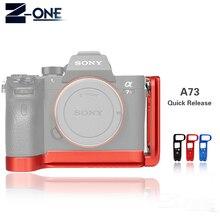 Placa L de liberación rápida A7M3, soporte de agarre manual para Sony A7III / A7RIII/A9, placa base de liberación rápida y placa lateral