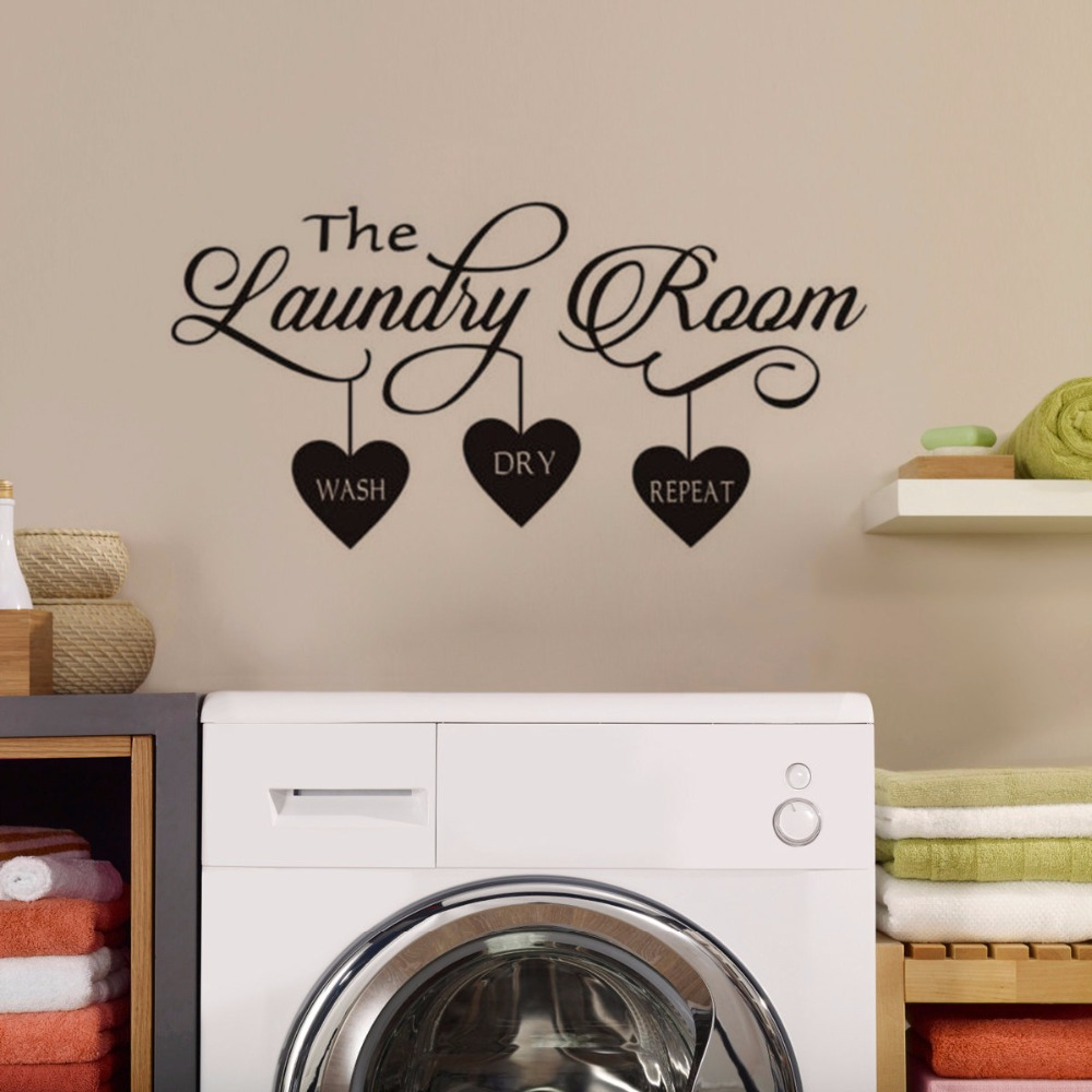 Laundry Room Sign Wash Dry Fold Wall Art Print Poster For Washing Room Word Art