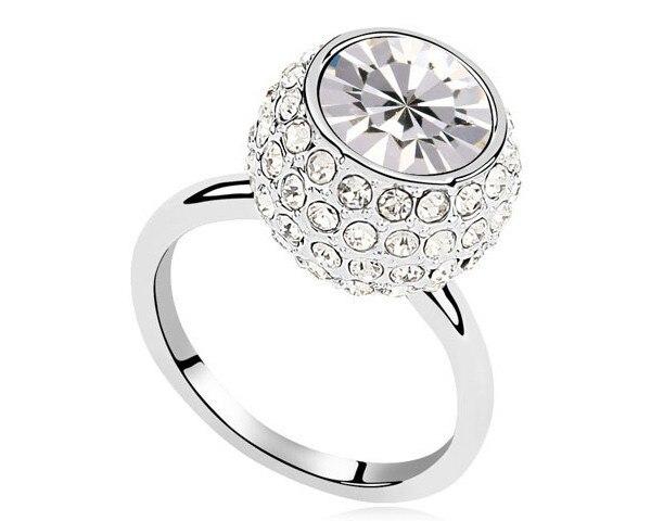 Austrian Clear Crystal Simple Design Girl Women Finger
