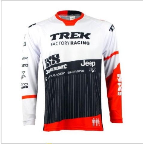 404cd201b Hot sell for TREK SHIMANO motorcycle Jersey motocross MTB DH MX Jersey  Cycling Bike Bicycle downhill Jersey Quick Dry Smooth