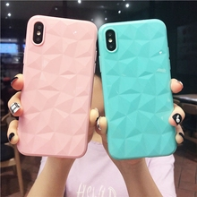 3D Diamond Soft Silicone Case for iphone 6s 6 s Plus Coque iphone 6s Cute Pink Cover For iphone 7 8 Plus iphone 8 X 7plus Case cheap Fitted Case Anti-knock Dirt-resistant Apple iPhones iPhone 7 Plus IPHONE X iPhone 6 Plus iPhone 6s plus Plain Patterned