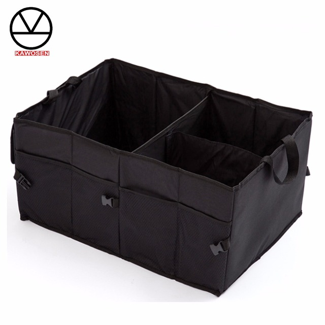 KAWOSEN 600D Oxford Stowing Tidying Interior Holders, Car Foldable Trunk Organizer Storage Bags,Universal Auto Rear Racks HDTO02