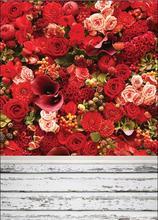 SHENGYONGBAO  Vinyl Custom Photography Backdrops Prop Valentine day rose  floor  theme Photo Studio Background SYO-40 цена