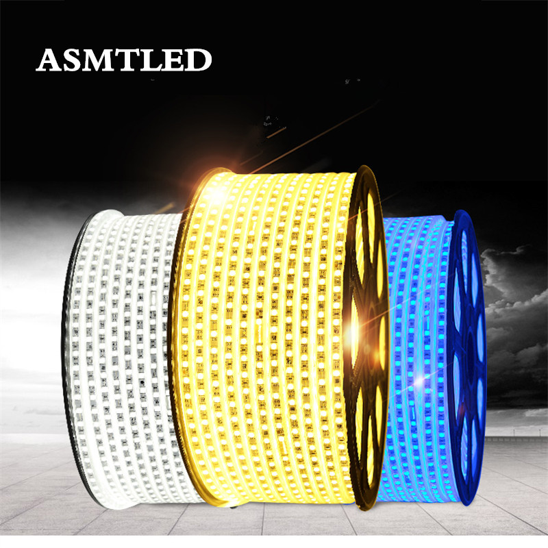 SMD 5050 Strip Flexible Light AC220V 60leds/m Garland Outdoor Indoor Ceiling Ribbon Tape IP67 Waterproof LED Light Strip+EU Plug