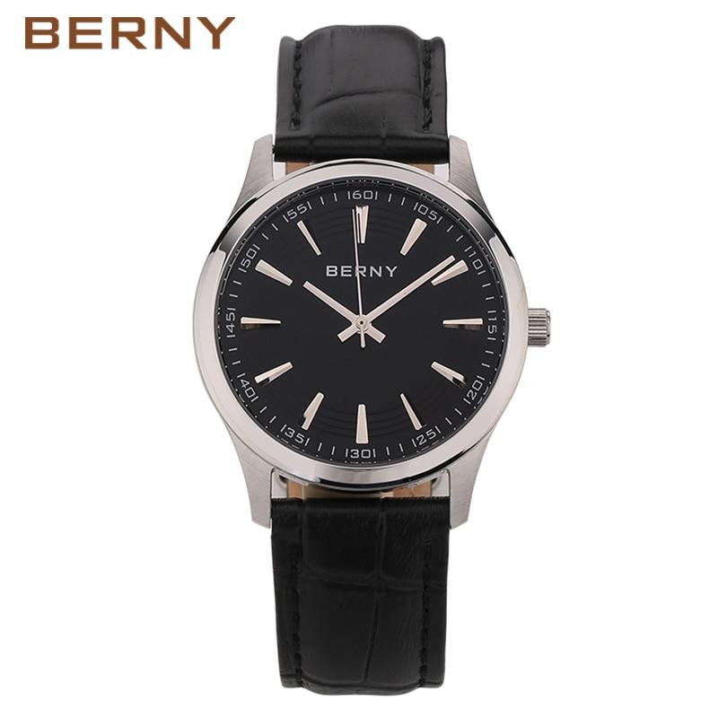 2017 New Top Brand Luxury Quartz Watch Men Business Casual Black Japan Quartz-Watch Genuine Leather Waterproof Clock Male 2694 gts 1004 waterproof male japan quartz watch silicone strap