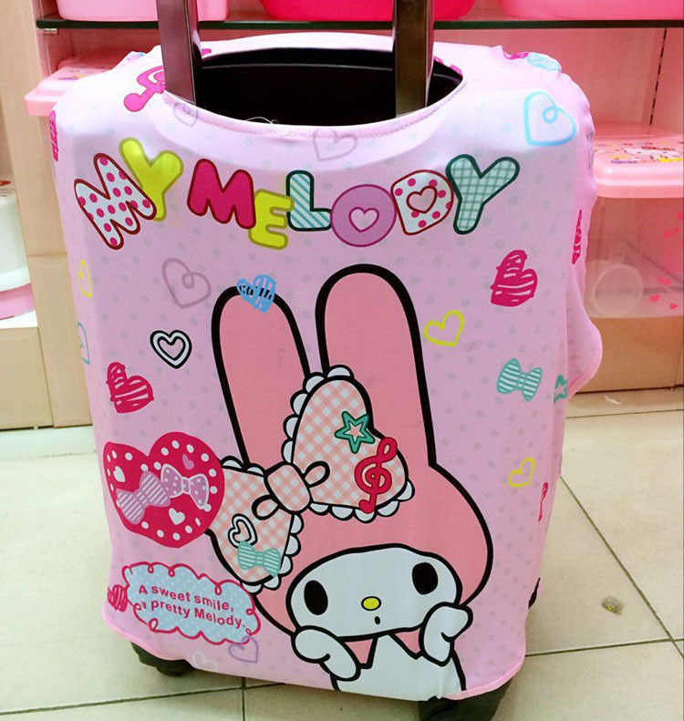 7bec9522820a ... Cute Cartoon Hello Kitty My Melody Stars Stitch Travel Luggage Cover  Protector Elastic Fabric Baggage Trolley ...