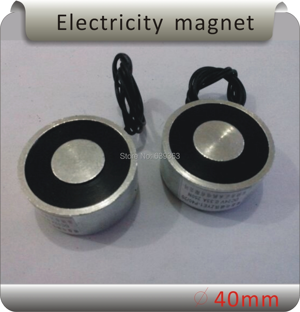 Free shipping ZYE-P40/20 DC Solenoid Electromagnet,Round Electro Holding Magnet Electro Holding Force 25KG 12V 24V p100 40 round electro holding magnet dc24v dc solenoid electromagnetic mini round electro holding magnet