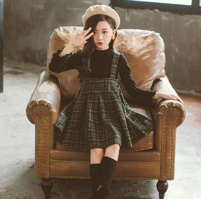 2009 New Leisure Girls Nu Kids Dress Princess Girls Skirt Net Red Primary School Students Suit ThinY21