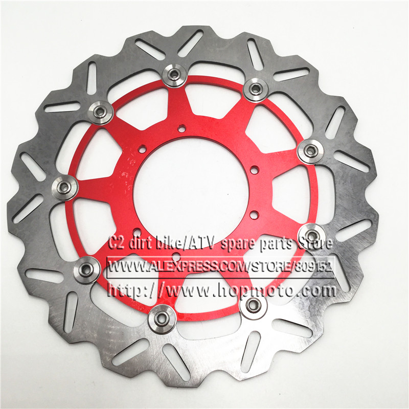 320MM Oversize Front Wavy Floating Brake Disc Rotor CR125 CR250 CRF250R CRF250X CRF450R CRF450X CRF230F CR500 Supermoto Motard стоимость