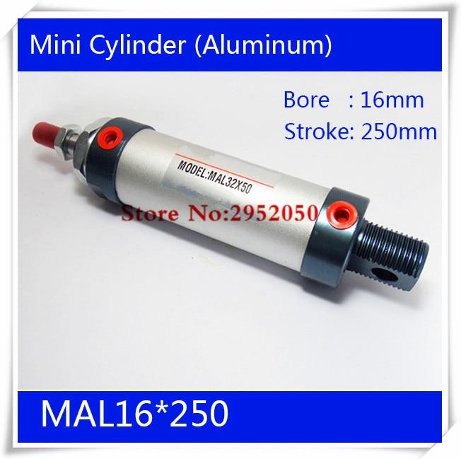 MAL16*250 Rod Single Double Action Pneumatic Cylinder ,Aluminum alloy mini cylinder Free shipping mal 32x75 75mm strike double action single rod pneumatic cylinder free shipping