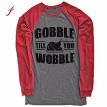 FEITOGN Women's shirt Thankful Grateful Alphabet Print Long Sleeve Splicing Tops T-Shirt New Autumn Winter O-Neck Big Size Shirt
