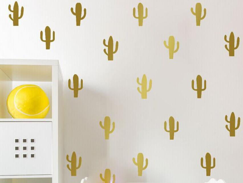 2018 topCartoon Little Cactus Wall Sticker, Removable Cactus Wall Decals Art Decor Free Shipping 20 Cactus Per Lot ...