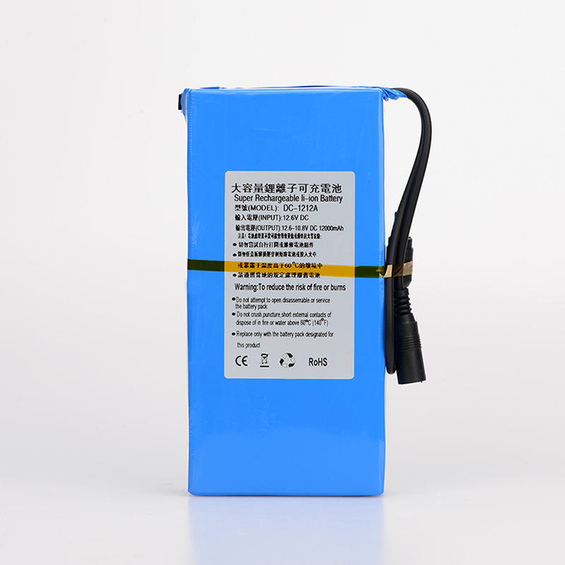 MasterFire 10 ensemble/lot 12 V batterie Lithium-ion 12000 mAh polymère moniteur moteur LED lumières extérieur de rechange DC 1212A Batteries Pack