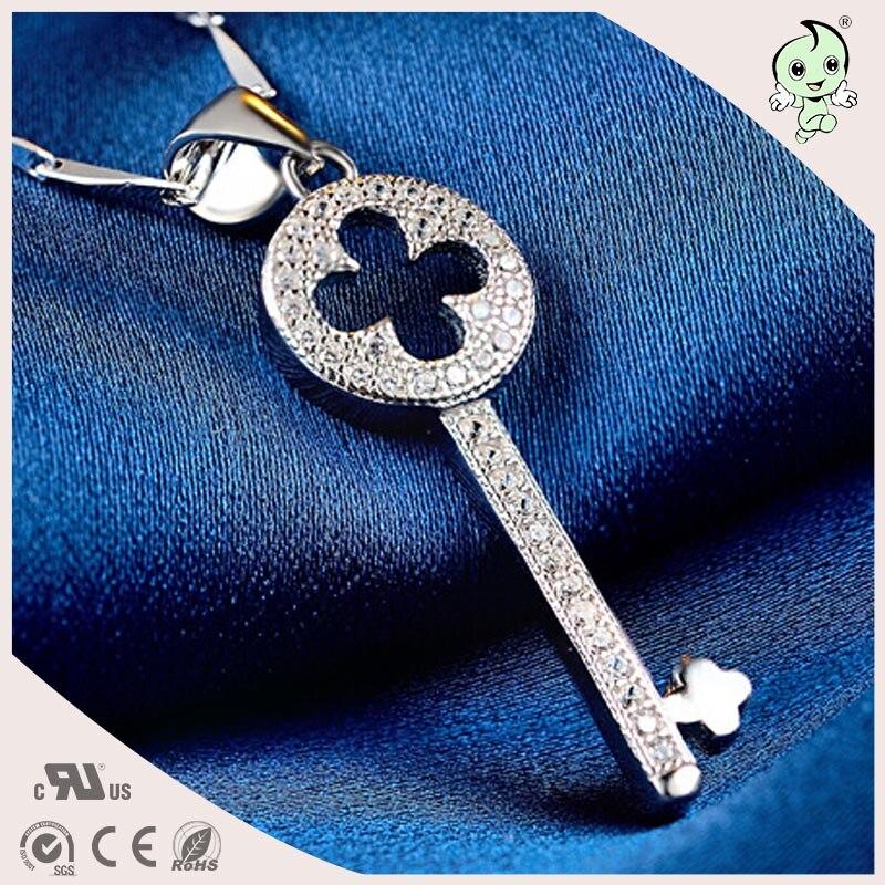 56afe687c3 ツ)_/¯Buena calidad y precio barato 100% 925 clave colgante de plata ...