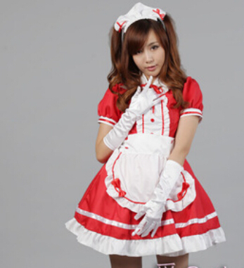 Free shipping Halloween Akihabara classic black and white maid cosplay women's maid uniform costume