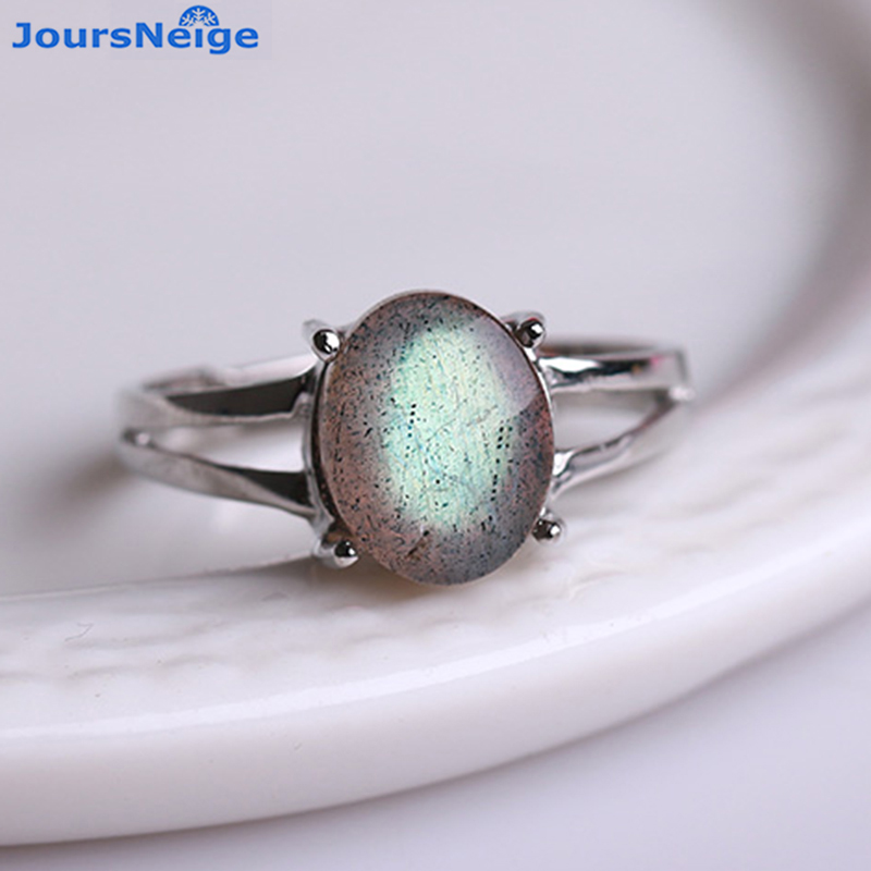 Moonlight Natural Stone Ring S925 Sterling Silver Mosaic Ring Men Women Crystal Ring Energy Stone Korea style Jewelry Wholesale цена
