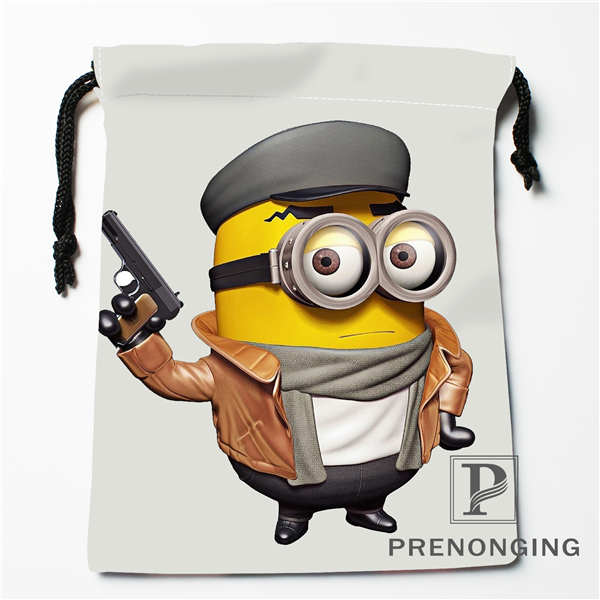 Custom Minions Drawstring Bags Printing Fashion Travel Storage Mini Pouch Swim Hiking Toy Bag Size 18x22cm #171203@1-02