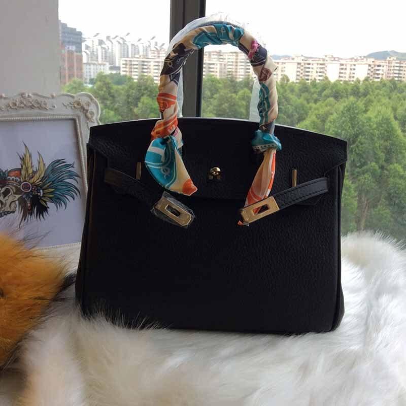 2017 New High Quality Women's Handbag Genuine Cow Leather Grain Elegant Lady's Shopping Purse Messenger Shoulder bag Brand style
