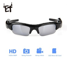 ET Wearable Sports Camcorder Rechargeable Sunglasses Camera