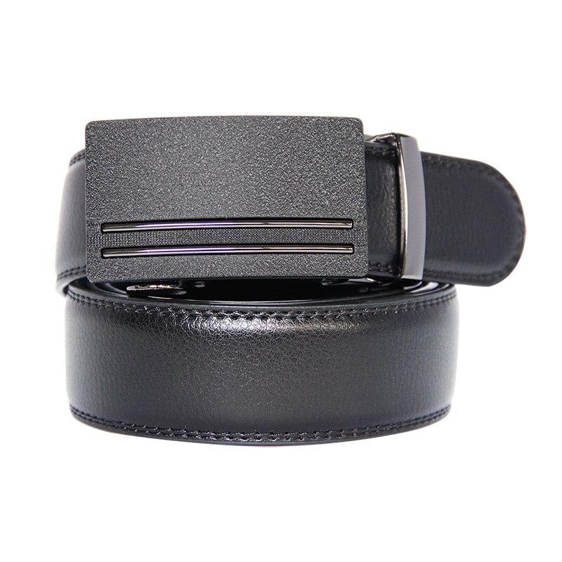 New Brand Fashion Automatic Buckle Black Genuine Leather Belt Men's Belts Cow Leather Belts for Men 3.5cm Width