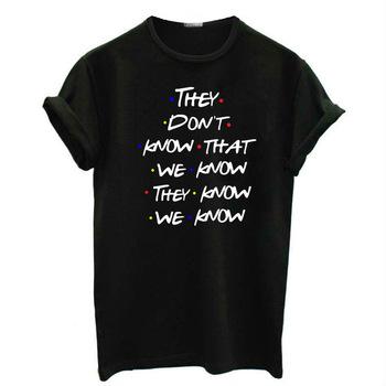 T koszula kobiety 2020 vintage poznaj przyjaciół nowe napisy drukowanie z krótkim rękawem damska koszulka luźny dół tshirt vestidos TXWC19 tanie i dobre opinie oyao CN (pochodzenie) Poliester Topy Tees REGULAR Suknem List NVTX41 WOMEN NONE Na co dzień Osób w wieku 18-35 lat O-neck