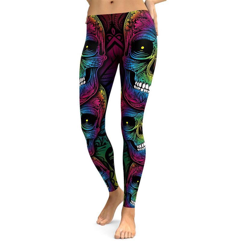 Punk women Leggings Adventure Time Skull Fitness Leggings Girls Plus Size Legins Pants Stretchy Trousers