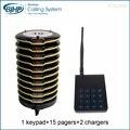 15 Sistema de Fila de Paginação pagers Coaster Restaurante Pager Sem Fio com Bateria Recarregável 433.92 MHz Restaurantes Equipamentos