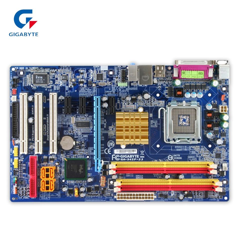 Original Gigabyte GA-945P-S3 Desktop Motherboard 945P-S3 945P LGA 775 DDR2 SATA2.0 ATX 100% Fully Test original gigabyte ga 8i945plge rh desktop motherboard 8i945plge rh 945pl lga 775 ddr2 2g sata2 micro atx 100% fully test