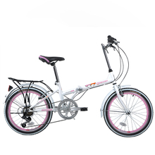 20 inch Mini Folding Bike 6 Speed Bicycle Adult Portable Carbon Steel Frame Foldig Bicycle Mechanical V brakes FG206