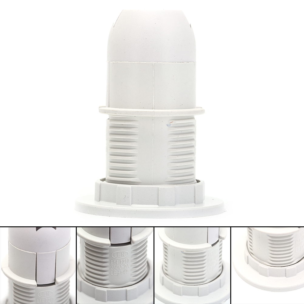 2Pcs x <font><b>E14</b></font> 250V 2A Light Bulb <font><b>Lamp</b></font> Holder Screw <font><b>E14</b></font> Base LED Light <font><b>Lamp</b></font> Bulb Holder Adapter <font><b>Socket</b></font> lampholder Pendant image
