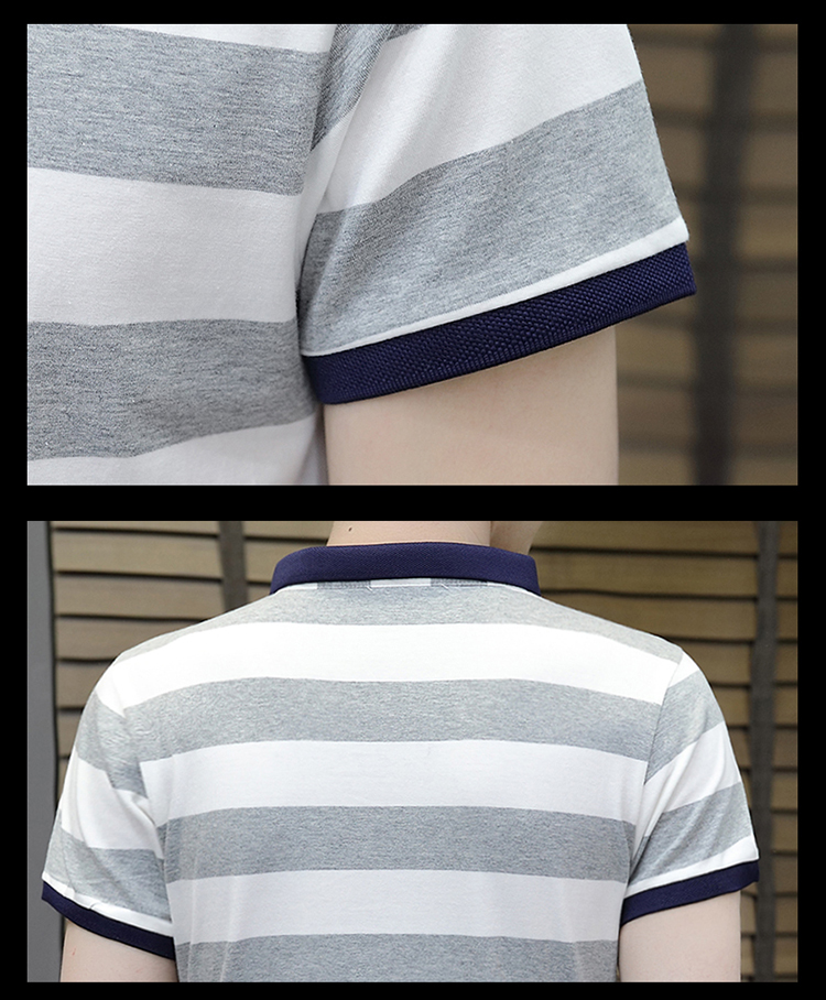 New summer high quality striped short sleeve polo shirt men brand clothing fashion Korean casual slim fit male camisa 9018Z 5