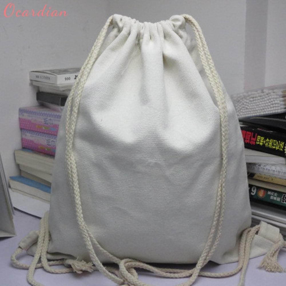 OCARDIAN High quality Popular Fashion Unisex Backpacks Solid Bags Drawstring Backpack Dropship 170720 solid drawstring detail tee