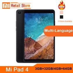 Original Xiaomi Mi Pad 4 Lte Wifi 4GB64GB 8 16:9 Mi Pad 4 Snapdragon 660 AIECore 12.0MP+5.0MP  Xiaomi Tablet Tablets Pad 2018
