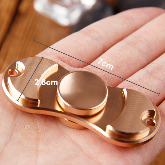 MiniTudou Multi-color Finger Gyro Hand Spinner Aluminum Alloy Material For Autism And ADHD Rotation Time Long Anti Stress Toys