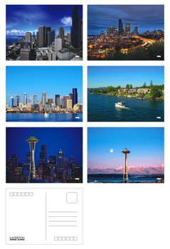 6pcs/lot Seattle beautiful landscape christmas greeting cards postcards set/Gift Card/Blessing invitation Post card YH-1098 image