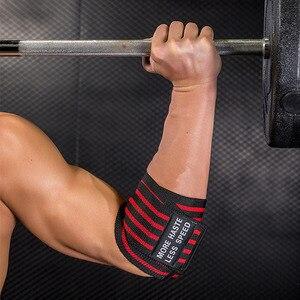 Image 3 - 1 пара, регулируемый бинт для тяжелой атлетики, локоть, эластичные ремешки, защита для поддержки тренажерного зала, фитнеса, тренировки, бодибилдинга