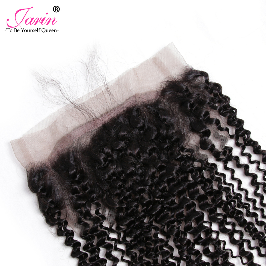 Indian Kinky Curly Pre Plucked 360 Lace Frontal Closure WIth Baby hair Adjustable Strap Can Be Bleached nonRemy Human Hair Jarin