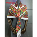 Winter Scarves For Women Hijab Scarf Chiffon 5 Colors Bandanas Scarf Female Brand Fashion Shawls Scarves Wrap 120*120cm Flower