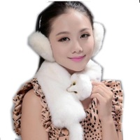 100% real fur scarf warm winter fashion female mink collar luxurious mink scarf